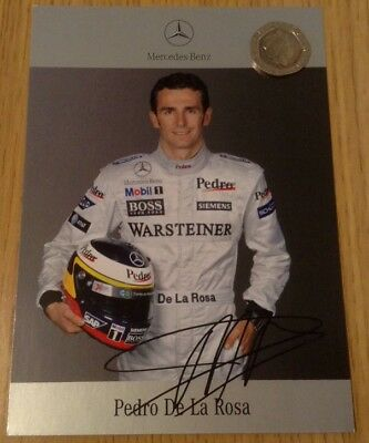 Official Mercedes Benz McLaren F1 Team 2005 Pedro De La Rosa Driver Card