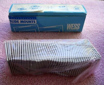 35mm Wess Plastic Professional Slide Mounts Old New Stock Box of 50