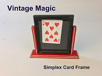 Simplex Card Frame Vintage Magic Circa 1930s Maybe Joe Berg Riedel