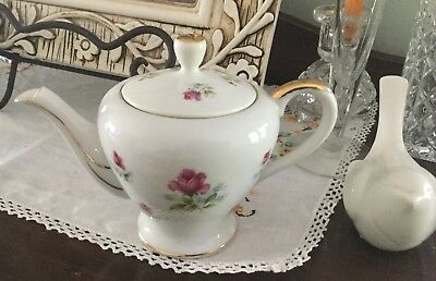 Cute Little Rose Tea Pot Made In Japan