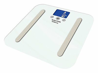 White Salter MiBody Bluetooth Digital Analyser Bathroom Scales BMI Fat Muscle