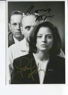 silence of the lambs JODIE FOSTER & ANTHONY HOPKINS autograph HAND SIGNED 6037