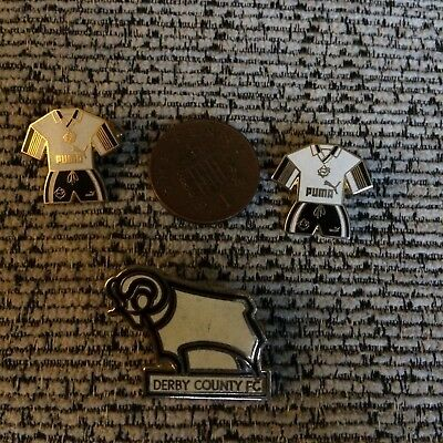 Derby County FC Football Pin Badges x 3