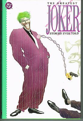 The Greatest Joker Stories Ever Told Dc Comics Hardcover 1988 Nm Unread Bright