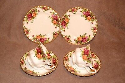 Royal Albert Old Country Roses 2 x cups saucers and side plates.