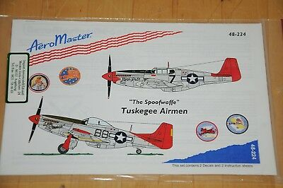 """Decals - AeroMaster - """"The Spoofwaffe"""" Tuskegee Airmen - 48-224"""