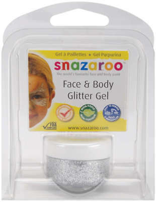 Snazaroo Face & Body Glitter Gel 12ml Silver 1115-476