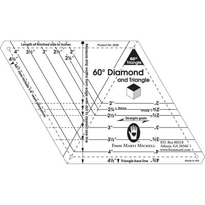 One Derful One Patch Template 60 Degree Diamond & Triangle 8228M