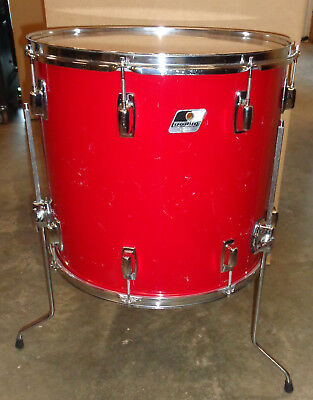 """Ludwig 18"""" by 16"""" Red Floor Tom! NO RESERVE!!"""