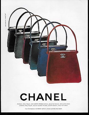 1997 Chanel Handbags Vintage Color Print Ad Advertisement 6 Purses