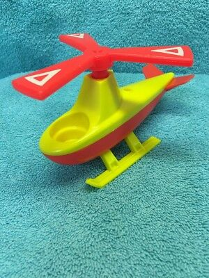Vintage Fisher-Price Little People Helicopter - Red and Yellow