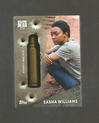 2017 Topps WALKING DEAD SASHA WILLIAMS Bullet Shell Casing #'D 68/96 SP Season 7