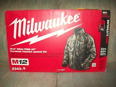 Milwaukee Heated Jacket New Condition with Battery and Charger Camouflage SMALL