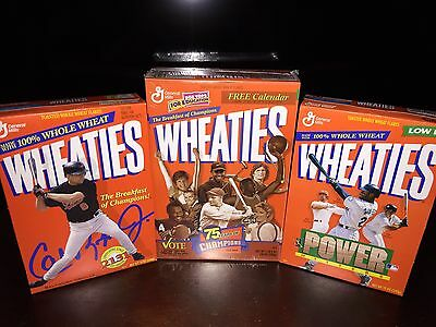 75 Years of Champions Wheaties Cereal Box Rare Unopened w/ Poster Inside, Plus 2