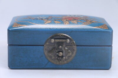 100% natural Exquisite Chinese hand carving wood  Jewelry box Box  ac126
