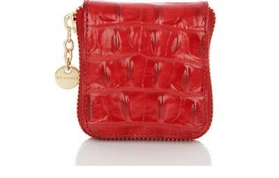 NWT  Brahmin Zip Around Contact Case,Party Red Melbourne, New, $55