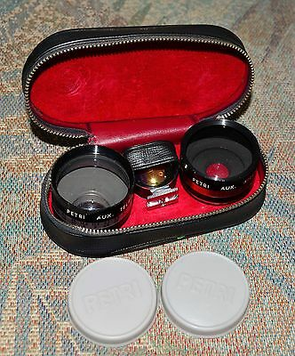 PETRI AUX Lens Kit - for Telephoto & Wide-angle MINT