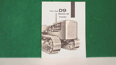 Caterpillar Tractor brochure on D9 Series D Tractor from 1956, very nice.