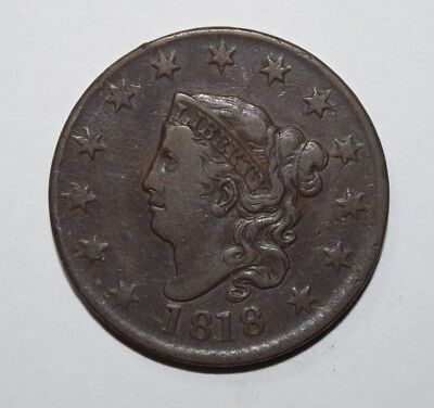1818 Coronet Head Large Cent   1J