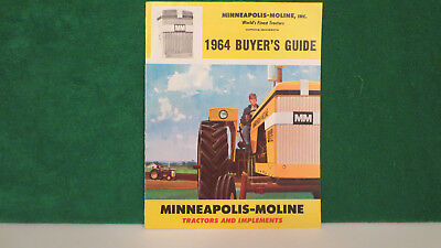 Minneapolis Moline Tractor brochure on Full Line 1964 Buyers Guide, very good.