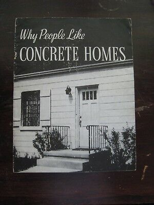 Vintage book, Why People Like Concrete Homes, 1947, 23 pgs, architecture