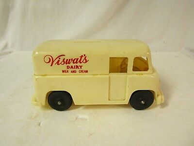 Vintage Viszwat's Dairy Milk and Cream Delivery Truck Van Bank