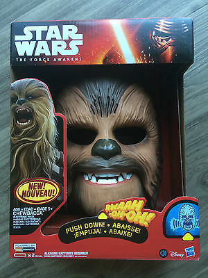 New in box Star Wars Chewbacca electronic talking mask The Force Awakens