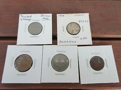 misc lot set of five coins