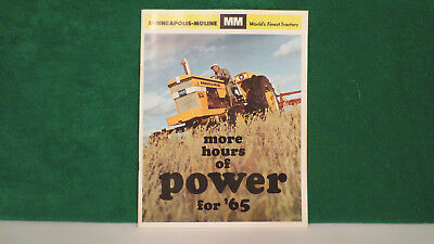 Minneapolis -Moline Tractor brochure on Full Line Buyers Guide for 1965, v.good.