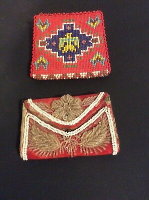 Lot of a Vintage Coin Purse...and a Vintage Beaded Wallet Thunderbird Design