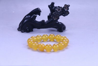 Exquisite China Hand Carved 100% natural jade Bead Bracelet X37