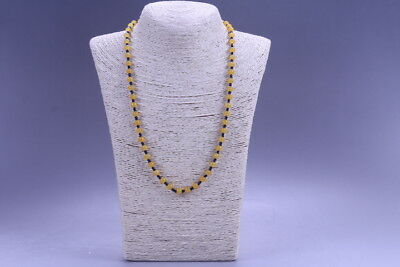 Exquisite China Hand Carved 100% natural jade Bead Necklace X12