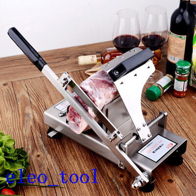 Fast Manual Control Meat Slicer SUS304 stainless steel  Frozen Meat Slicer !!!