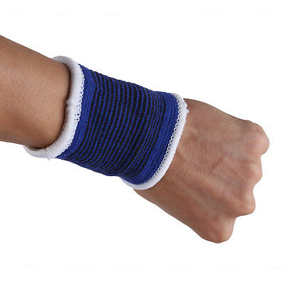 1 Pair Outdoor Elastic Wristbands Sports Wrist Band Sweatbands Sweat Band Tennis