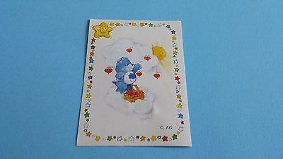 Vintage 1985 Panini Care Bears Grumpy Bear Sticker #28