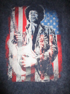 Jimmy Hendrix NWT Size XL T-Shirt Stars & Stripes USA Flag Guitar Acid Rock 60's