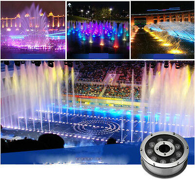 9W RGB LED Swimming Pool Light Stainless Steel IP68 Waterproof Underwater light