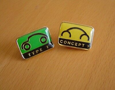 Set of 2 VW enamel pins-new beetle