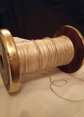 Vintage Wood and Brass Industrial Cotton Reel/Spool.5in(13cm) X 3.75in(9cm)