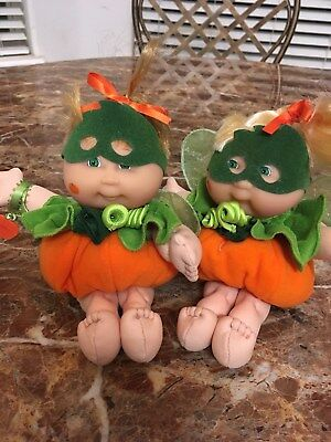 Cabbage Patch Pumpkin Baby's. Pair. Official
