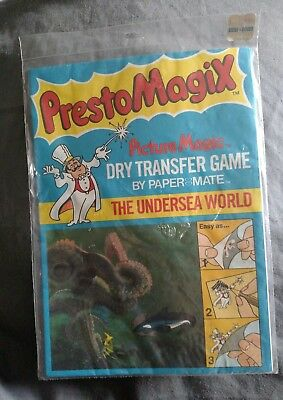 1978 NEW sealed Presto Magix The Under Sea World Dry Transfer Game By Paper Mate