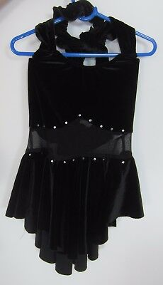 Black Figure Skating Dress Size Girls Medium