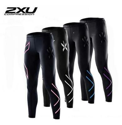2xu Women Compression Fitness Tights Pants Stretch Breathable Yoga Gym Running