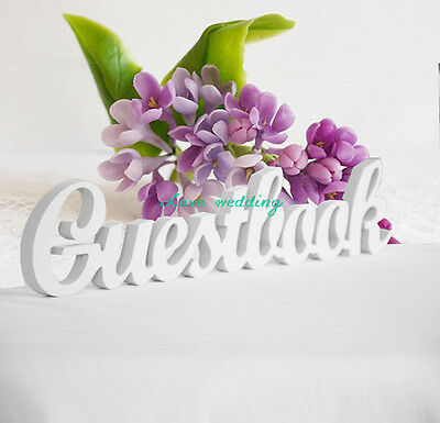 Wedding reception Guestbook sign unpainted Guest Book script letters Wedding gif