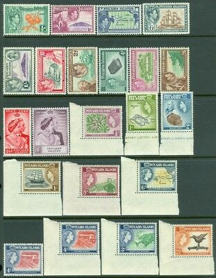 EDW1949SELL : PITCAIRN 1940-63 Scott #1-8, 11-12, 20-31, 36-37 VF MNH Cat $213.