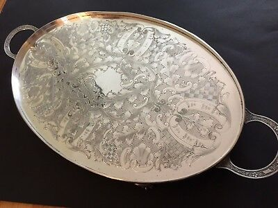 *Exquisite Antique/ Vintage Cutlers Company Viners Of Sheffield Silver EP TRAY