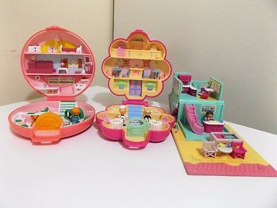 Vintage Polly Pocket Play sets - x 3