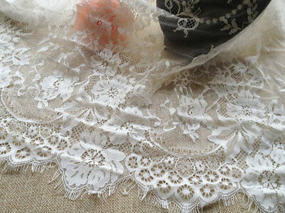 Vintage Lace Trim Tulle Floral Embroidered Trimming Fabric Embellishment Crafts