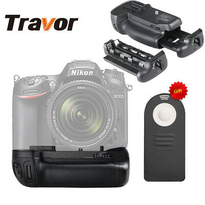 NEW Vertical Battery Grip Replacement as MB-D15 for Nikon D7100 D7200 IR Remote
