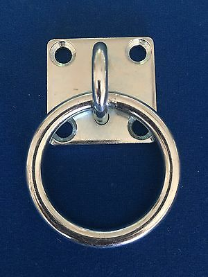 Galvanised Ring on Plate - 50mm Heavy Duty For Horses/Rope Tie /Fencing / Boats